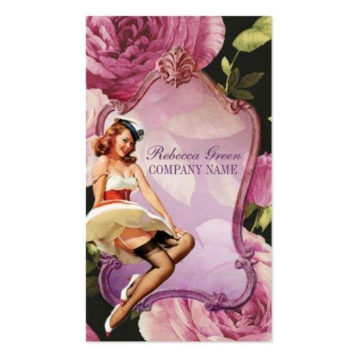 purple rose vintage girly makeup artist business card templates