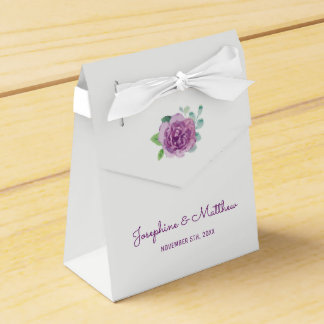 Purple Rose Wedding Favour Box