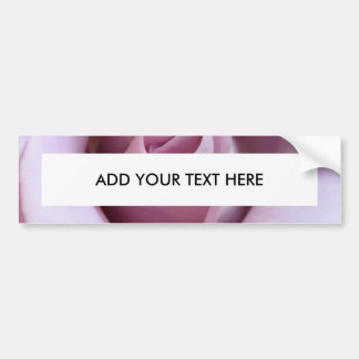 Purple Rose Wedding Photo Car Bumper Sticker