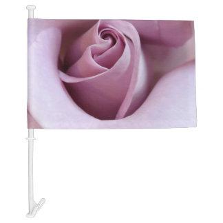 Purple Rose Wedding Photo Car Flag