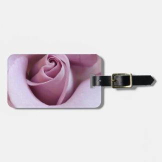 Purple Rose Wedding Photo Bag Tag