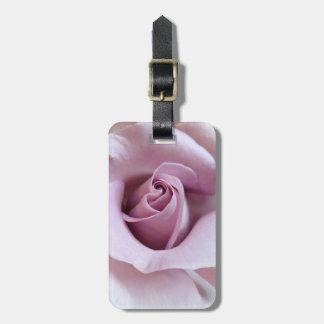 Purple Rose Wedding Photo Luggage Tags