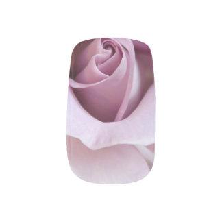Purple Rose Wedding Photo Nail Art