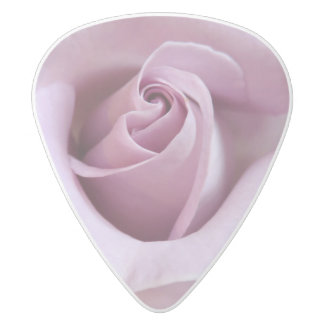 Purple Rose Wedding Photo White Delrin Guitar Pick