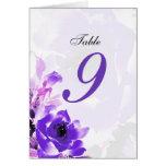 Purple Rose Wedding Table Seating Number