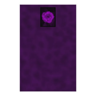 Purple Rose. With Black and Dark Purple. 14 Cm X 21.5 Cm Flyer