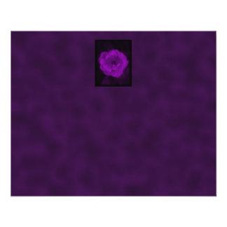 Purple Rose. With Black and Dark Purple. Flyer