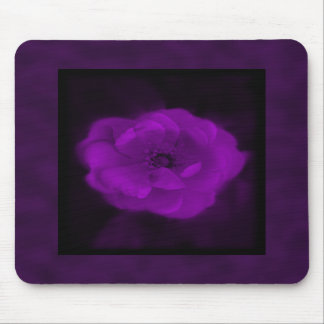 Purple Rose. With Black and Dark Purple. Mouse Pad