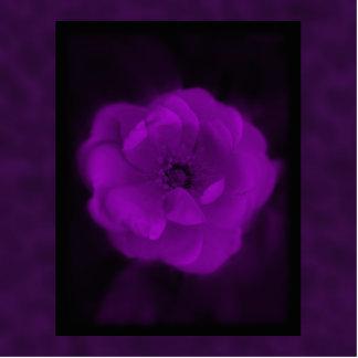 Purple Rose. With Black and Dark Purple. Photo Sculpture Badge