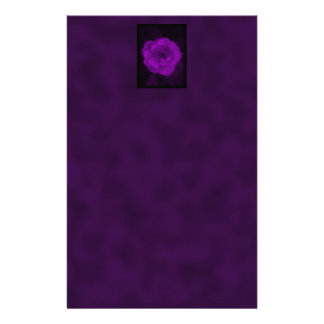 Purple Rose. With Black and Dark Purple. Stationery