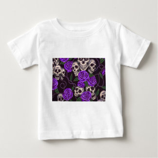 Purple Roses and skulls T-shirts