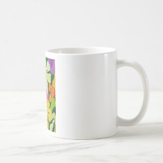 Purple Roses and Yellow Lilys Coffee Mug