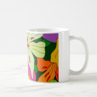 Purple Roses and Yellow Lilys Mugs