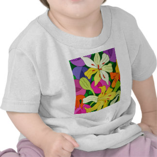 Purple Roses and Yellow Lilys Tee Shirt