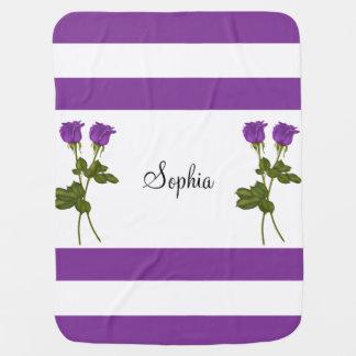 Purple Roses Baby Blanket