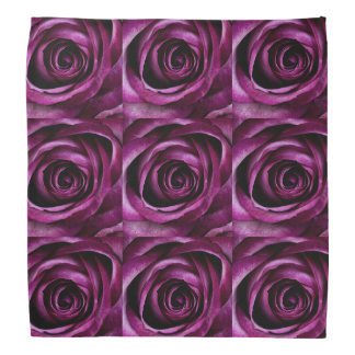 Purple Roses Bandanna