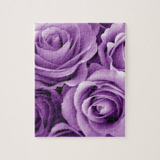Purple Roses Bouquet Gift Item for Her Jigsaw Puzzle