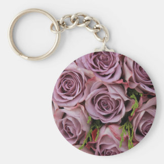 Purple roses by Therosegarden Key Chains