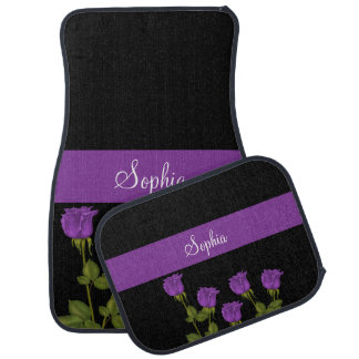 Purple Roses Car Mat
