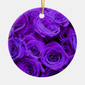 Purple  roses christmas ornament