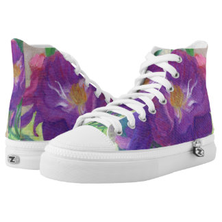 Purple Roses in the Shade High Tops