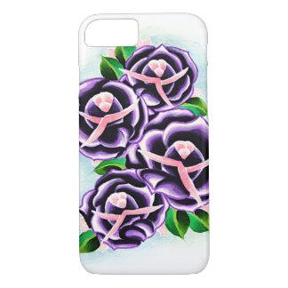 Purple Roses iPhone Cases