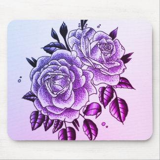 purple roses mouse mat