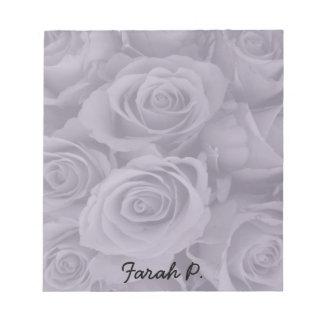 purple roses notepad