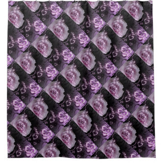Purple Roses Shower Curtain