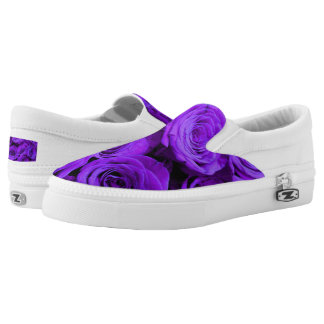 Purple Roses Slip-On Shoes