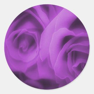 Purple Roses Stickers