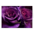 Purple Roses Sympathy Thank You Card