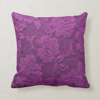 Purple Roses Textured Throw Cushions