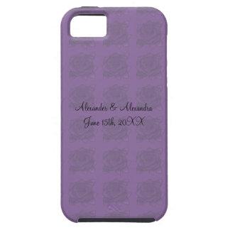 Purple roses wedding favors iPhone 5 case
