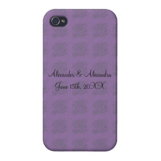 Purple roses wedding favors iPhone 4 cover