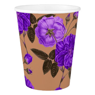 Purple Rosie Love Paper Cup