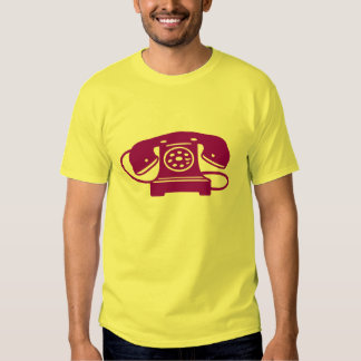 Purple rotary phone shirt