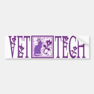 purple royal vet tech sticker bumper sticker