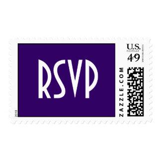 Purple RSVP Postage