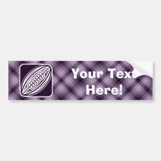 Purple Rugby Bumper Sticker