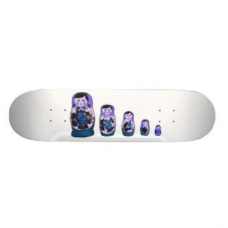 Purple Russian Nesting Dolls Skate Deck