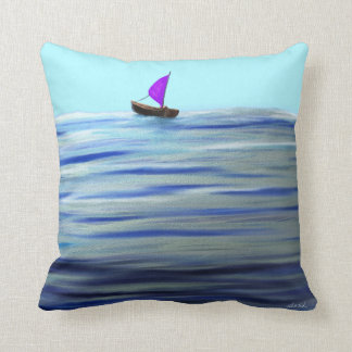 Purple Sailboat Cushion