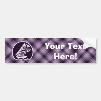 Purple Sailing Car Bumper Sticker