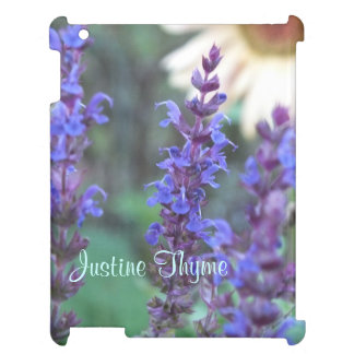 Purple Salvia iPad case *personalize*