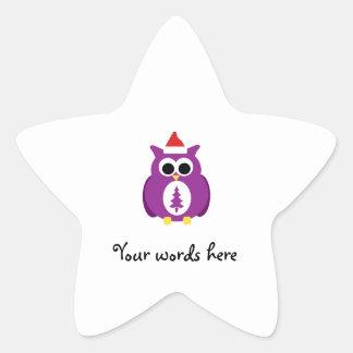 Purple santa owl stickers