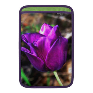 Purple Satin Tulip Sleeve For MacBook Air