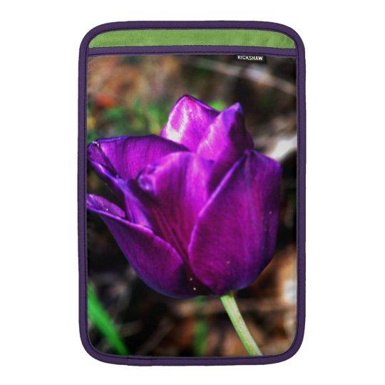 Purple Satin Tulip Sleeve For MacBook Air