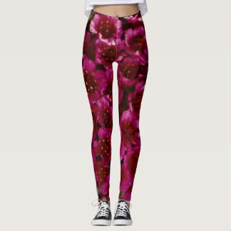 Purple Saxifrage Wildflower Arctic Coast Leggings