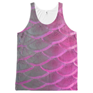 purple scale tanktop All-Over print tank top