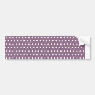 purple scores pünktchen polka dots hots scored do bumper sticker